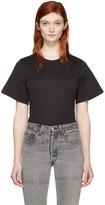 Courreges Black Crewneck T-shirt