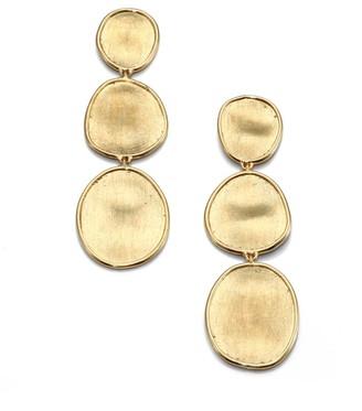 Marco Bicego Lunaria 18K Yellow Gold Triple-Drop Earrings