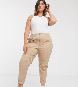 ASOS DESIGN Curve chino pants in stone