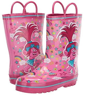 Favorite Characters Trolls Rain Boots TLS503 (Toddler/Little Kid) (Pink) Girl's Shoes