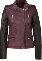 Iro Bordeaux/Grey Anabela Leather Jacket