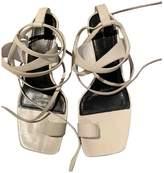 Celine White Leather Sandals