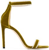 Jimmy Choo Dochas 100mm velour sandals