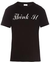 Saint Laurent Think It-print T-shirt