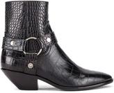Saint Laurent West Strap Zip Ankle Boots in Black | FWRD