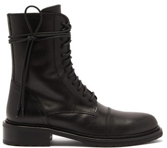 Ann Demeulemeester Laced Leather Boots - Black