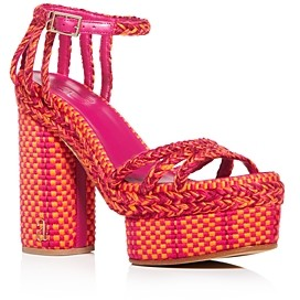 Antolina Women's Erika 130 Woven High Block-Heel Platform Sandals