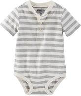 Osh Kosh Striped Henley Bodysuit