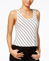 Kensie Striped Cropped Top