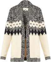The Great The Bonfire cotton-blend intarsia-knit cardigan