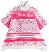 Roberto Cavalli Jacquard Wool & Cashmere Poncho