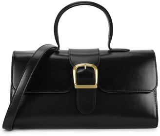 Rylan 1.1 Large Black Leather Top Handle Bag