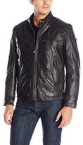 Andrew Marc Men's Mac Calf-Leather Moto Jacket