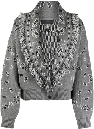 Alanui Knitted Loose-Fit Cardigan