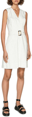 Cue Pinstripe A-Line Dress