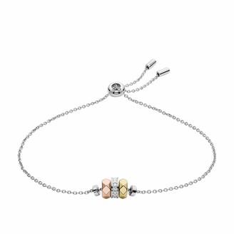 Fossil Women's Vintage Facets Sterling Silver Bracelet