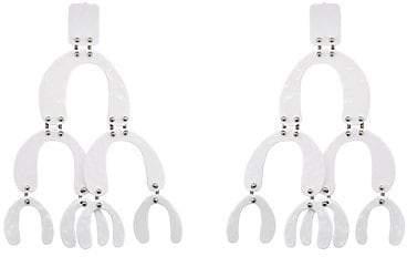 Proenza Schouler Women's Oversized Tiered-Drop Clip-On Earrings - White