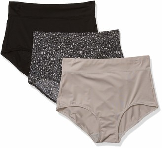 Warner's Women's No Pinching No Problems 3 Pack Micro Brief Tailored Panties