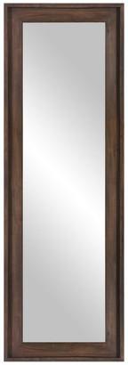 Pinnacle Patton Decor 19x57 Wood Framed Full Length or Leaner Mirror, Burnt Tob