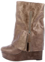 Alice + Olivia Overlay Wedge Ankle Boots