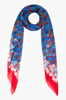 Marc Jacobs red and blue carnation scarf