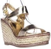 Lauren Ralph Lauren Serana Wedge Espadrille Sandals, Gold, 8.5 US / 39.5 EU
