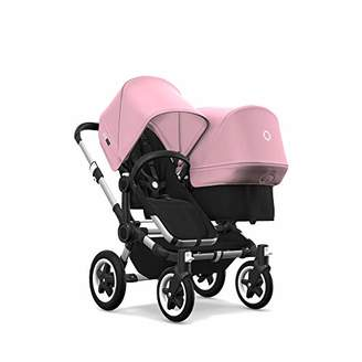 Bugaboo Donkey 2 Mono, 2 in 1 Pram and Pushchair, Extends Into Double Stroller, Black/Steel Blue