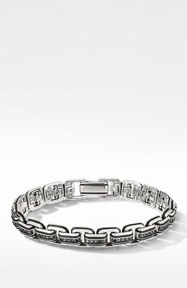 David Yurman Deco Chain Link Bracelet with Pave Black Diamonds