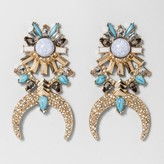 BaubleBar SUGARFIX by Mixed Media Squash Blossom Drop Earrings - Gold/Turquoise