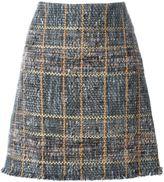 Etro raw edge tweed skirt