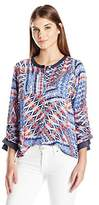 Alfred Dunner Women's Plus Size Printed Patchwork Tunic