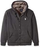 U.S. Polo Assn. Men's Sherpa Lined Fleece Hoodie