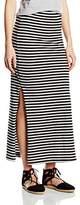 Only Women's Onlabbie Stripe Long Slit Noos Skirt,38 (Manufacturer Size: Medium)