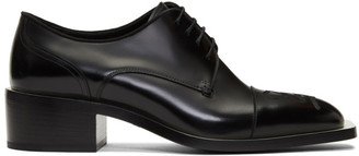 Fendi Black Karligraphy Derbys