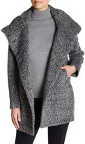 Sofia Cashmere Alpaca Boucle Envelope Collar Wool Blend Coat
