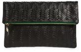 Clare Vivier Woven Leather Clutch - Black