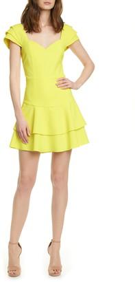 Alice + Olivia Brinda Double Ruffle Fit & Flare Dress