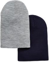 Very Mens 2 Pack Slouch Beanies