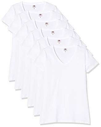 Fruit of the Loom Women's Lady-Fit V-Neck Valueweight Tee, 5 Pack T-Shirt,12 (Size:) (Pack of 5)