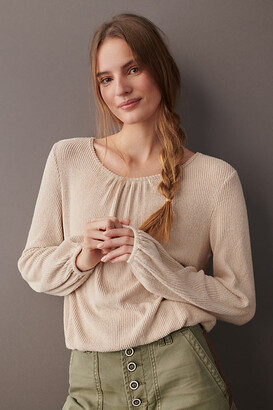 Esther Pullover By Amadi in Beige Size XS