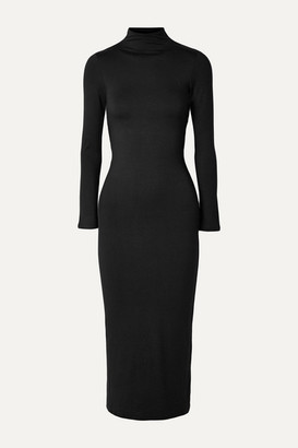 Reformation Jameson Open-back Stretch-tencel Jersey Midi Dress - Black
