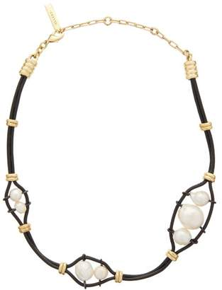Ellery Gladys Cord Necklace - Womens - Black