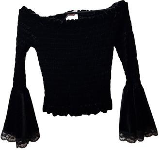 Lm Lulu Black Velvet Top for Women