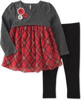 Kids Headquarters 2-Pc. Plaid Hem Tunic and Leggings Set, Toddler Girls (2T-5T)