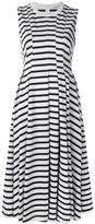 Alexander Wang striped midi dress - women - Cotton - XS