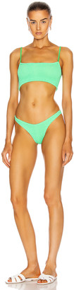 Hunza G New Gigi Bikini in New Lime | FWRD