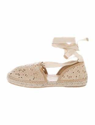 Jimmy Choo Embroidered Accent Espadrilles