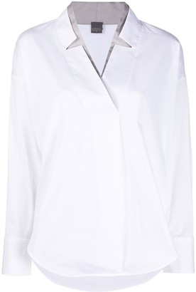 Lorena Antoniazzi V-Neck Long-Sleeved Shirt