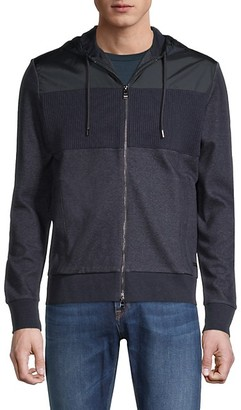 HUGO BOSS Cotton-Blend Hooded Jacket