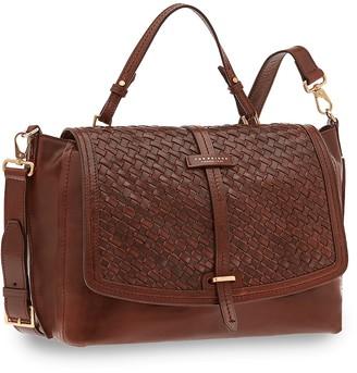 The Bridge Salinger Genuine Leather Dual Function Top-Handle Bag